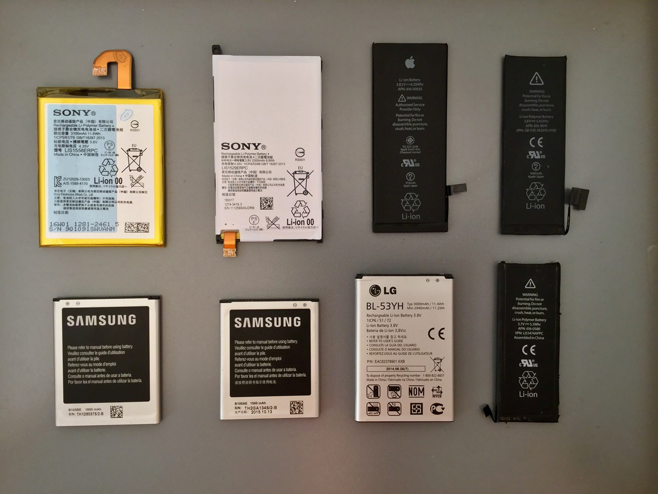 Mobiltelefon Akkumulátorok